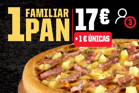 1 Pizza Familiar PAN a Domicilio x 17€ (6- ingr.)