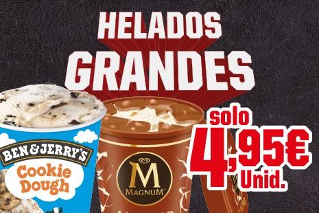 Helado Grande (440ml o 500ml) x 4,95€ del 9/09 al 30/10/2019