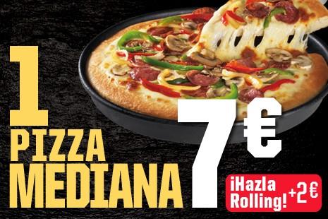 1 Pizza Mediana a Recoger x 7€ (6- ingr.)