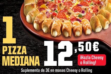1 Pizza Mediana a Domicilio x 12,50€ (7- ingr.)