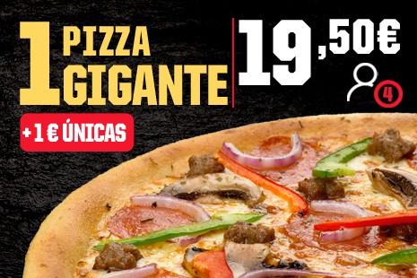 1 Pizza Gigante a Domicilio x 19,50 (7-ing)