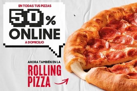 50% Online En Pizzas