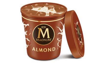 Helado de Vainilla con Chocolate y Almendra Grande