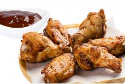 Alitas de pollo con Salsa Barbacoa (6 uds.)