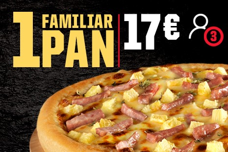 1 Pizza Familiar PAN a Domicilio x 17€ (7-ingr.)