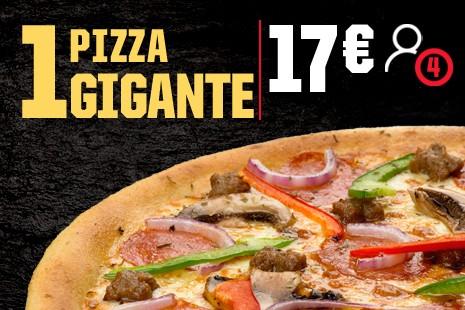 1 Pizza Gigante a Domicilio x 17€ (7-ingr.)