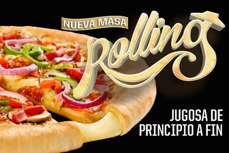 Nueva masa Rolling Pizza Hut