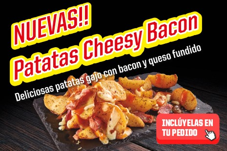 Patatas cheesy y bacon