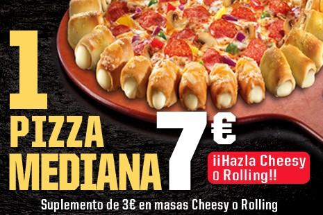 1 Pizza Mediana a Recoger x 7€ (7- ingr.)