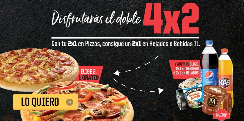4x2 en Pizza Hut