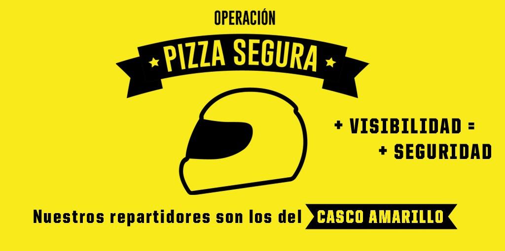 Casco amarillo Pizza Hut