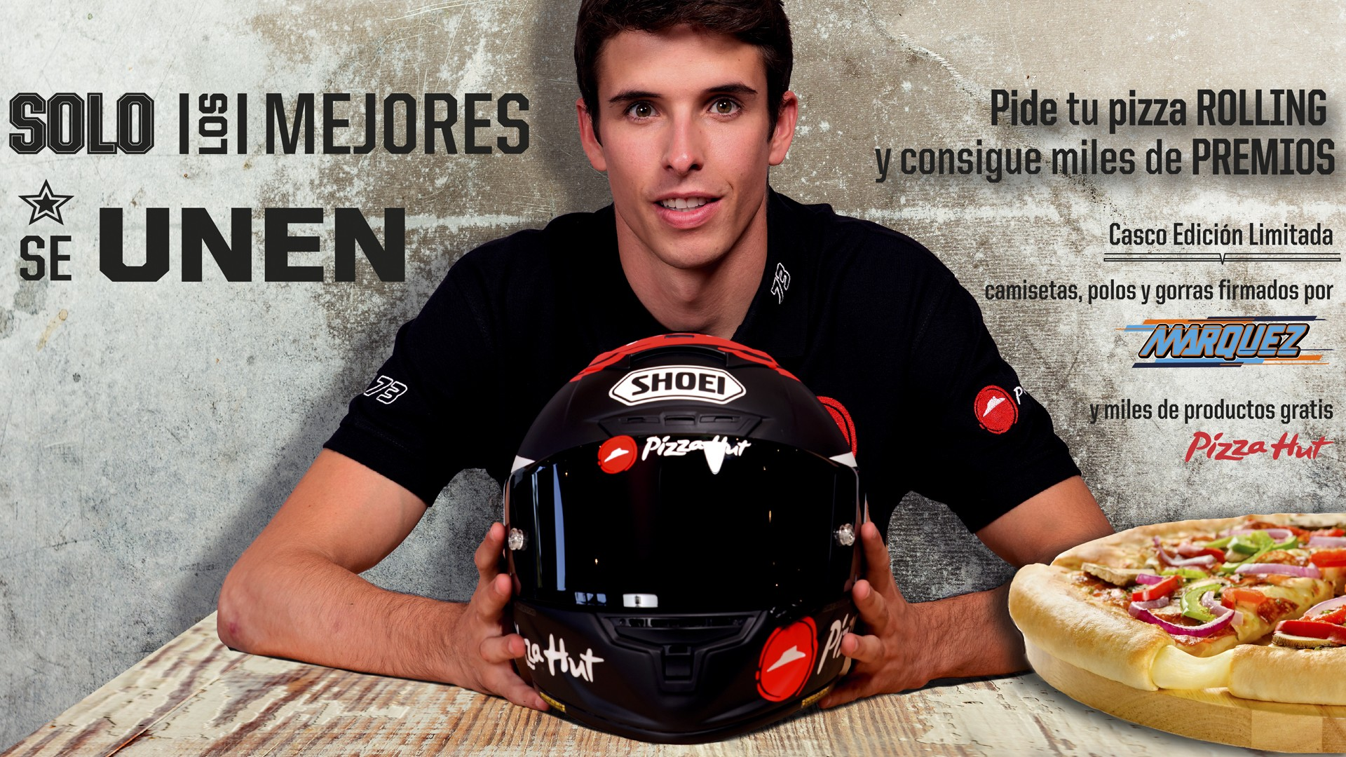 Alex Marquez y Pizza Hut